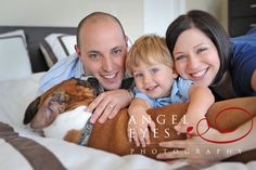 Fun family photo with the dog. Angel Eyes Photography by Hilda Burke, Chicago.