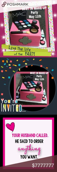 💄Theme is BEST IN MAKE UP May 11th at 12 pm PST 🛍💄Hosting party theme is BEST IN MAKE UP  Please come party with us on  May 11,1017 at 12pm PST  please tag and share🛍💄💄💄💄💄💄💄💄💄💄💄💄💄💄💄💄💄💄💄💄 make UP party  Makeup