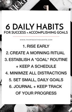 Habits for Success | self-improvement | self-growth | inspiration | goal setting | habits for success | how to accomplish your goals | goals | success | happiness | motivation |