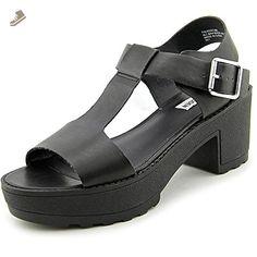 Steve Madden Toleedo Women US 7.5 Black Platform Sandal - Steve madden pumps for women (*Amazon Partner-Link)