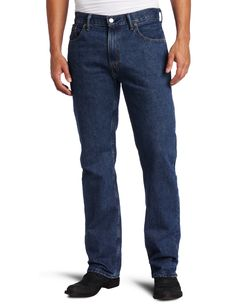 Levi's Men's 505 Regular Fit Jean, Dark Stonewash, 38x30
