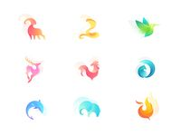 Animal silhouette Collection 2 designed by skyu. Graphic Design Lessons, Branding Design, Logo Design, Animal Silhouette, Geometry Art, Poster Layout, Logo Color, Colour, Animal Logo