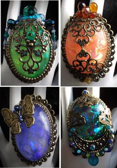 Bagues baroque, bague victorienne, nouveau baroque, vintage, bague art nouveau, bague scarabée,lalique jewelry,art nouveau ring,scarab ring de la boutique LaPetiteDidine sur Etsy