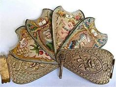 Antique 1800′s fan shaped needle book…