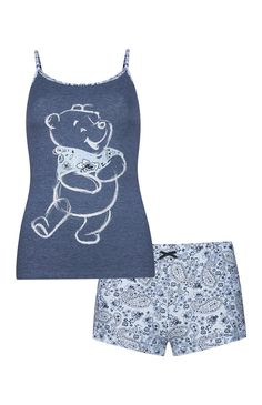 Pyjama bleu Winnie l'Ourson Pajama Outfits, Pajama Shorts, Disney Outfits, Cute Sleepwear, Lingerie Sleepwear, Nightwear, Lazy Day Outfits, Casual Outfits, Cute Outfits