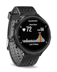 Segui il prezzo e cronologia prezzo di Amazon per Garmin Forerunner 235 GPS Sportwatch con Sensore Cardio al Polso e Funzioni Smart, Nero/Grigio (B016ZWT64M)