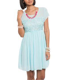 Blue Floral Cap-Sleeve Dress #zulily #zulilyfinds