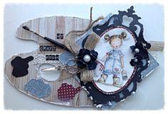460.440.020 Dutch Doobadoo art Paint Palette door Raffaela Perego En vente sur www.boitascrap.com