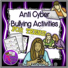 Cyber Bullying Awareness for Internet Safety and Digital Citizenship Bullying Activities, Bullying Lessons, Activities For Teens, Counseling Activities, Teaching Activities, Cyberbullying Prevention, Social Media Etiquette, Anti Bullying, Cyber Bullying