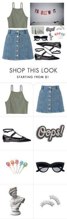 """If You Wanna Start a Fight You Better Throw the First Punch, Make it a Good One"" by electrasullivan ❤ liked on Polyvore featuring Miss Selfridge, Valentino, Anya Hindmarch and Market"