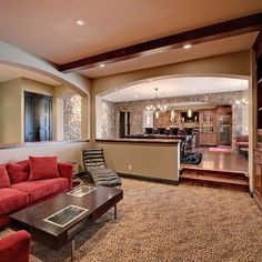 Sunken Living Room Design Ideas, Pictures, Remodel, and Decor - page 3