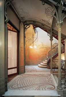 GORGEOUS art nouveau building... i would love to take a picture here in a ball gown