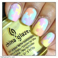 Pastel color nails
