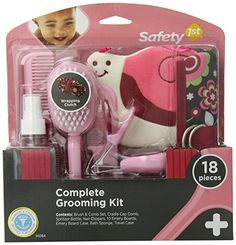 The #complete grooming kit by #Safety 1st  gives you a stylish and easy way to keep your baby's grooming needs organized and close while on the go. The kit has 18...