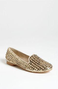 Steve Madden 'Studlyy' Flat. Completely over the top but would be so cute paired with dark ankle Paige jeans + black blazer + simple top + chunky gold jewelry.