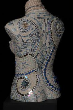 Mosaic torso Isabella van MicheleRiceMosaics op Etsy