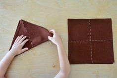 Five Minute Montessori - Folding Cloths