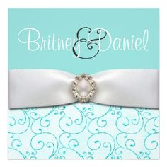 Tiffany Blue Wedding Invitations from Zazzle.com