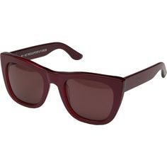 fc233b582e Super Gals Metallic (Metallic Red) Fashion Sunglasses ( 91) ❤ liked on  Polyvore featuring accessories
