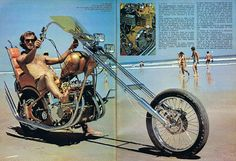 chopper Triumph Chopper, Chopper Motorcycle, Bobber Chopper, Honda Trike, Bike Magazine, Old School Chopper, Old School Vans, Motorcycle Posters, Vintage Biker