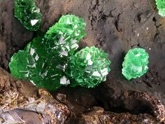 Adamite (Var: Cuprian Adamite)Locality: Kamariza Mines, Agios Konstantinos [St Constantine], Lavrion District Mines, Lavrion District, Attikí Prefecture, Greece Rounded aggregates of cuprian adamite crystals. Collection and photo: Angelo Brambilla