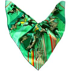 MISS CRIMSON square 100% silk scarf A DAY AT THE RACES