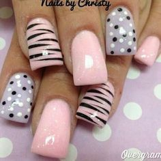 Generally, people thought nail art can be possible on long nails But actually, it's not so! Simple nail art designs for short nails are not only popular Get Nails, Fancy Nails, Love Nails, Pink Nails, Pretty Nails, Pink Shellac, Girls Nails, Gel Nagel Design, Manicure E Pedicure
