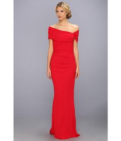 Badgley Mischka Asymmetrical Sleeve Gown Red - Zappos.com Free Shipping BOTH Ways