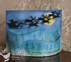Over the Tree Tops by Cook22 - Cards and Paper Crafts at Splitcoaststampers. Bendi Card