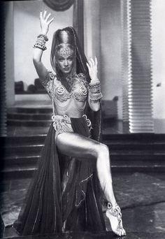 Marlene Dietrich in a Karinska costume for Kismet.