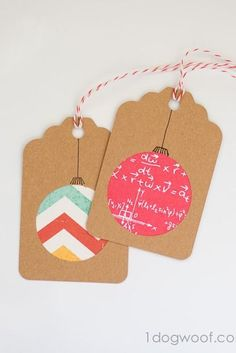 Homemade Christmas Gift Tags Day 2: Scrapbook Paper Ornament: