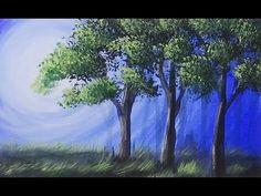#lovesummerart - Acrylic Painting - Morning Stillness- Speed Painting - YouTube