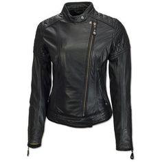 Women Leather Jacket Coat Motorcycle Biker Black Slim Fit Jackets Size 2Xl Wj012