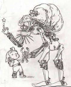 thebristolboard:Drawing by Geof Darrow. Happy Holidays!  thebristolboard:  Drawing by Geof Darrow.  Happy Holidays!