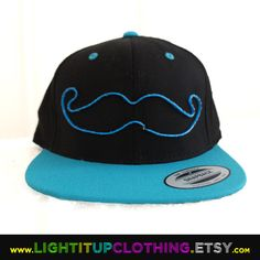 El Wire Snapback Mustache Hat by LightItUpClothing on Etsy, $50.00