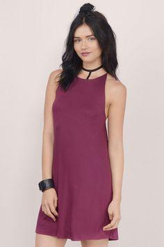 Swing Low Backless Mini Shift Dress