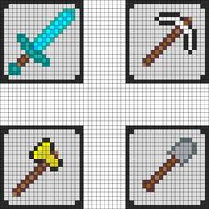minecraft perler bead patterns | Minecraft Coaster Pt 1 Perler Bead Pattern | Bead Sprites | Misc Fuse ...