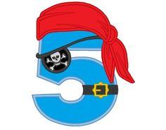 Apliques bordados - Pirata Cumpleaños Números 1/9 bordados apliques - hecho a…
