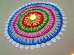Small, easy and quick rangoli design | Easy rangoli designs by Poonam Borkar - YouTube