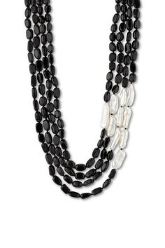 ballard necklace, $99 (100439)  Four strands of black obsidian with white biwa pearls.  http://www.luluavenue.com/CHPWPShowProduct.ashx?ProgramProductId=944&ProgramCategoryId=103