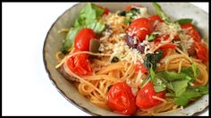 Basil Tomato Angel Hair Pasta Recipe - Vegan Rich Bitch Cooking Blog