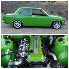Really Green Datsun 510 Datsun 510, Japanese Sports Cars, Japanese Cars, Custom Hot Wheels, Custom Cars, Sweet Cars, Top Cars, Nissan Skyline, Modified Cars