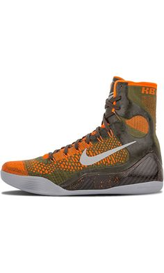 Nike Kobe IX 9 Elite Strategy 630847-303 Sequoia/Green/Silver Mens Basketball Shoes (size 10.5) Best Price