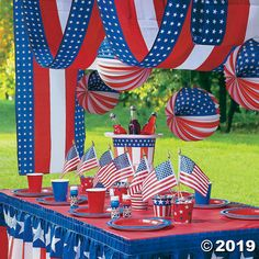 New Of July Party Supply Patriotic Decoration Oriental Trading Company Idea Food Game Song For Adult Name 4th July Crafts, Fourth Of July Decor, 4th Of July Celebration, 4th Of July Decorations, 4th Of July Party, July 4th, 4th Of July Games, Patriotic Bunting, Patriotic Party