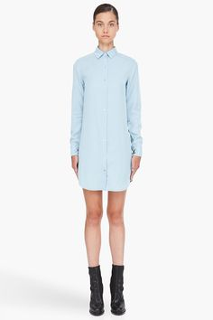 T BY ALEXANDER WANG Blue Chambray Shirt Dress