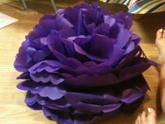 Giant DIY plastic flower... what do you think? :  wedding big diy flower flowers inspiration plastic purple reception Purple Flower