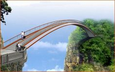 swallow flying pedestrian bridge in shennongjia