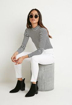 Fall - Mock Neck Striped Top | Forever 21 - love a mock/turtleneck.