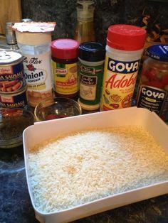 to Make Rice W/ Vienna Sausage (Arroz Con Salchichas) IngredientsIngredients Puerto Rican Recipes Rice, Puerto Rican Dishes, Sausage Recipes, Beef Recipes, Cooking Recipes, Rice Recipes, Chicken Recipes, Boricua Recipes, Recipes