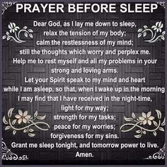 Prayer before I sleep